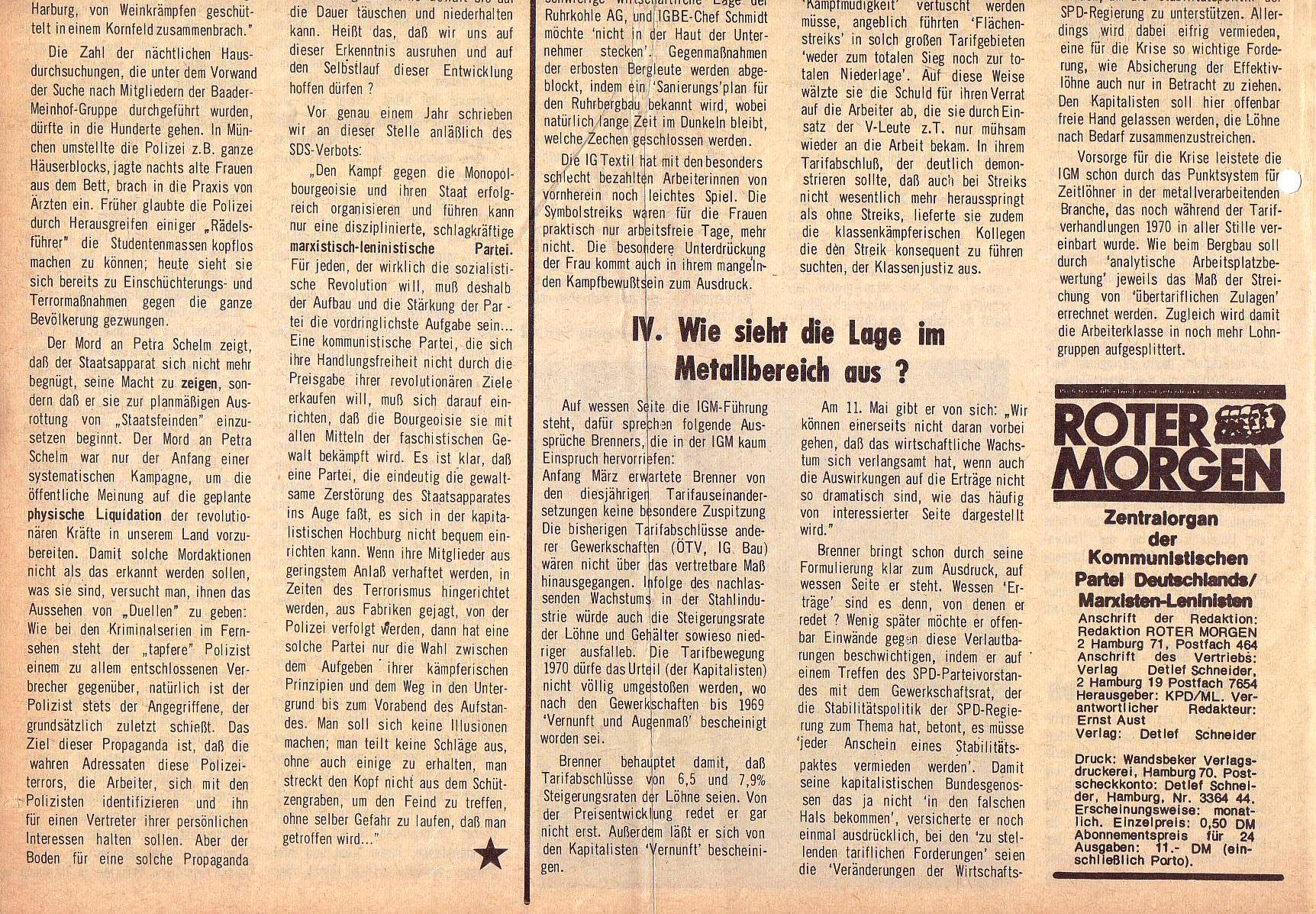 Roter Morgen, 5. Jg., August 1971, Nr. 8, Seite 2b