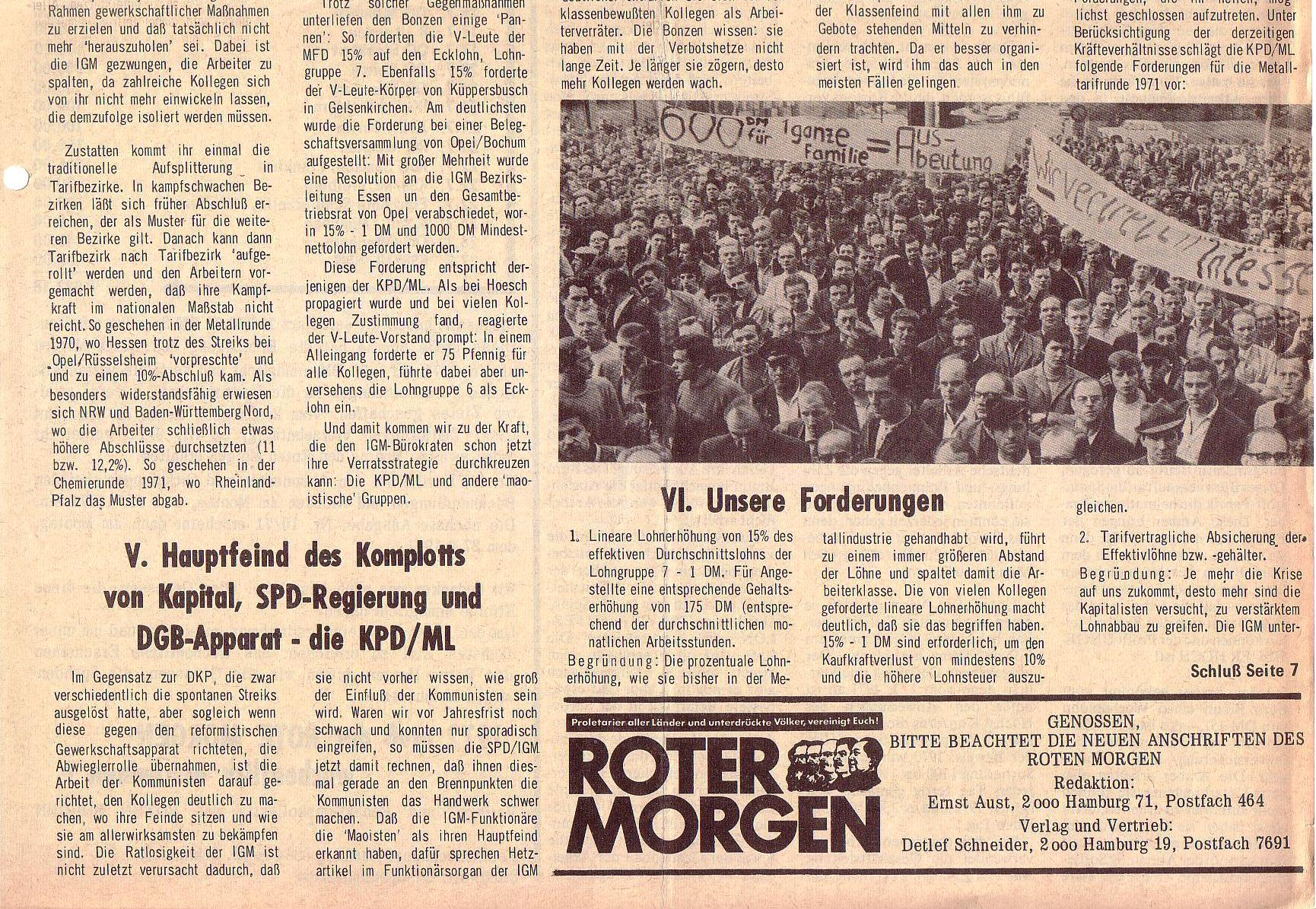 Roter Morgen, 5. Jg., August 1971, Nr. 8, Seite 3b