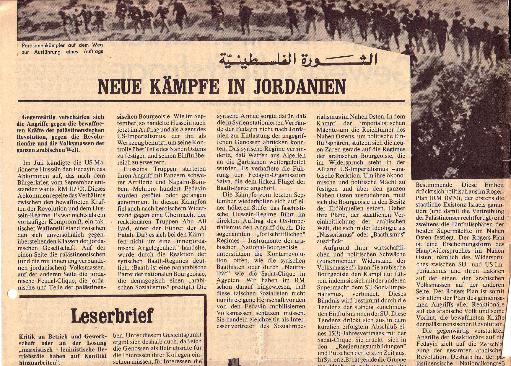 Roter Morgen, 5. Jg., August 1971, Nr. 8, Seite 5a