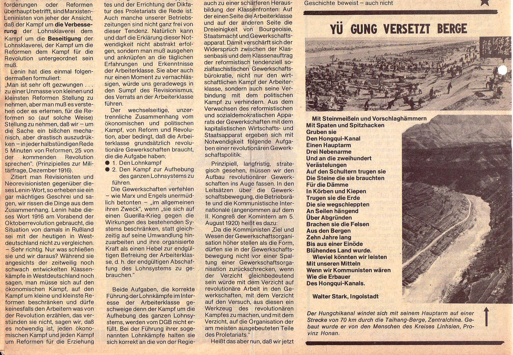 Roter Morgen, 5. Jg., August 1971, Nr. 8, Seite 6b