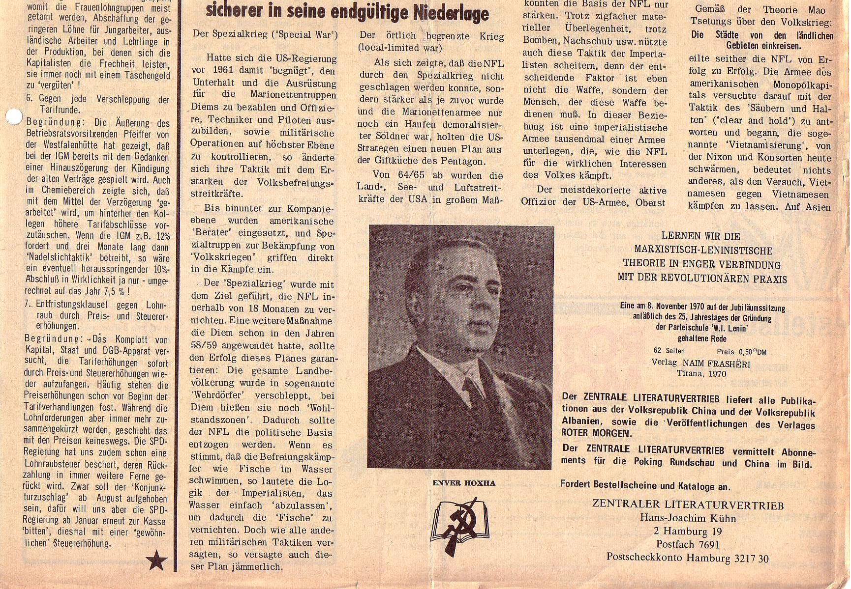 Roter Morgen, 5. Jg., August 1971, Nr. 8, Seite 7b