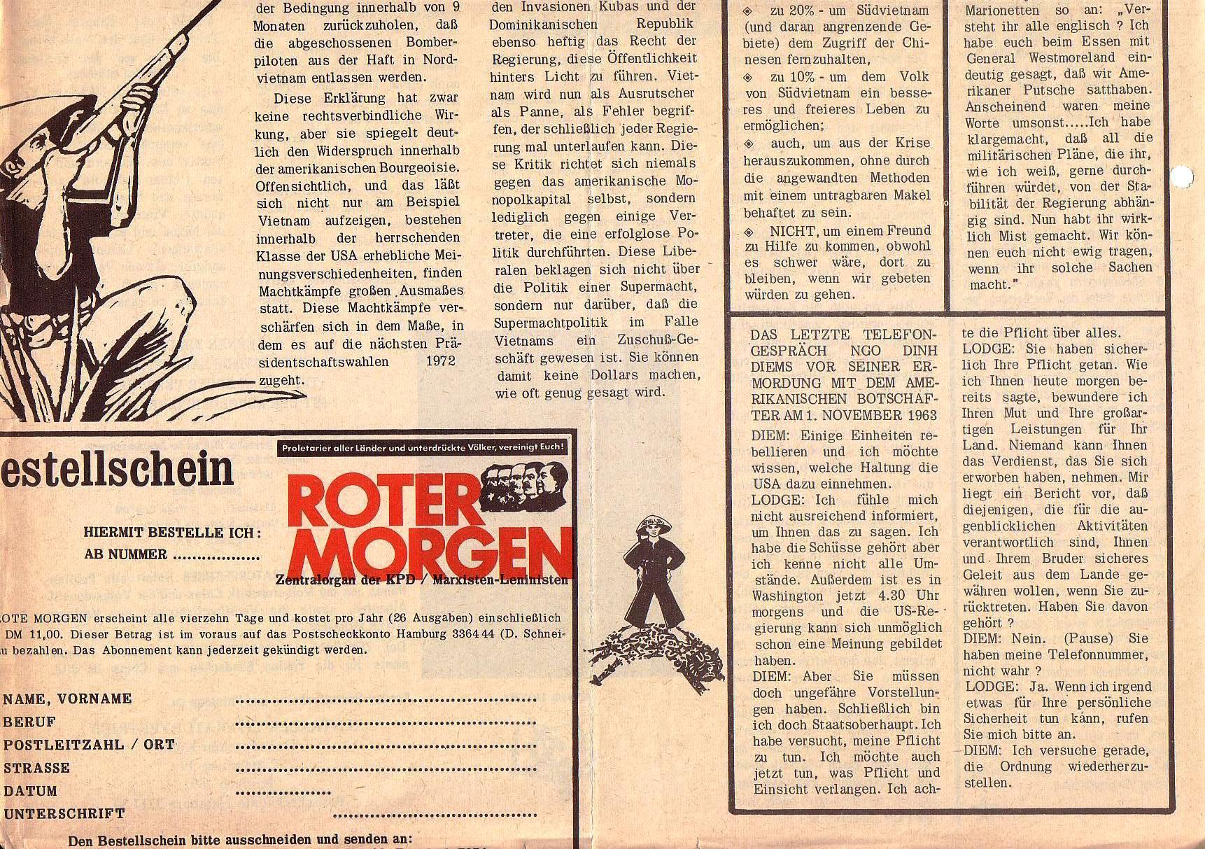 Roter Morgen, 5. Jg., August 1971, Nr. 8, Seite 8b
