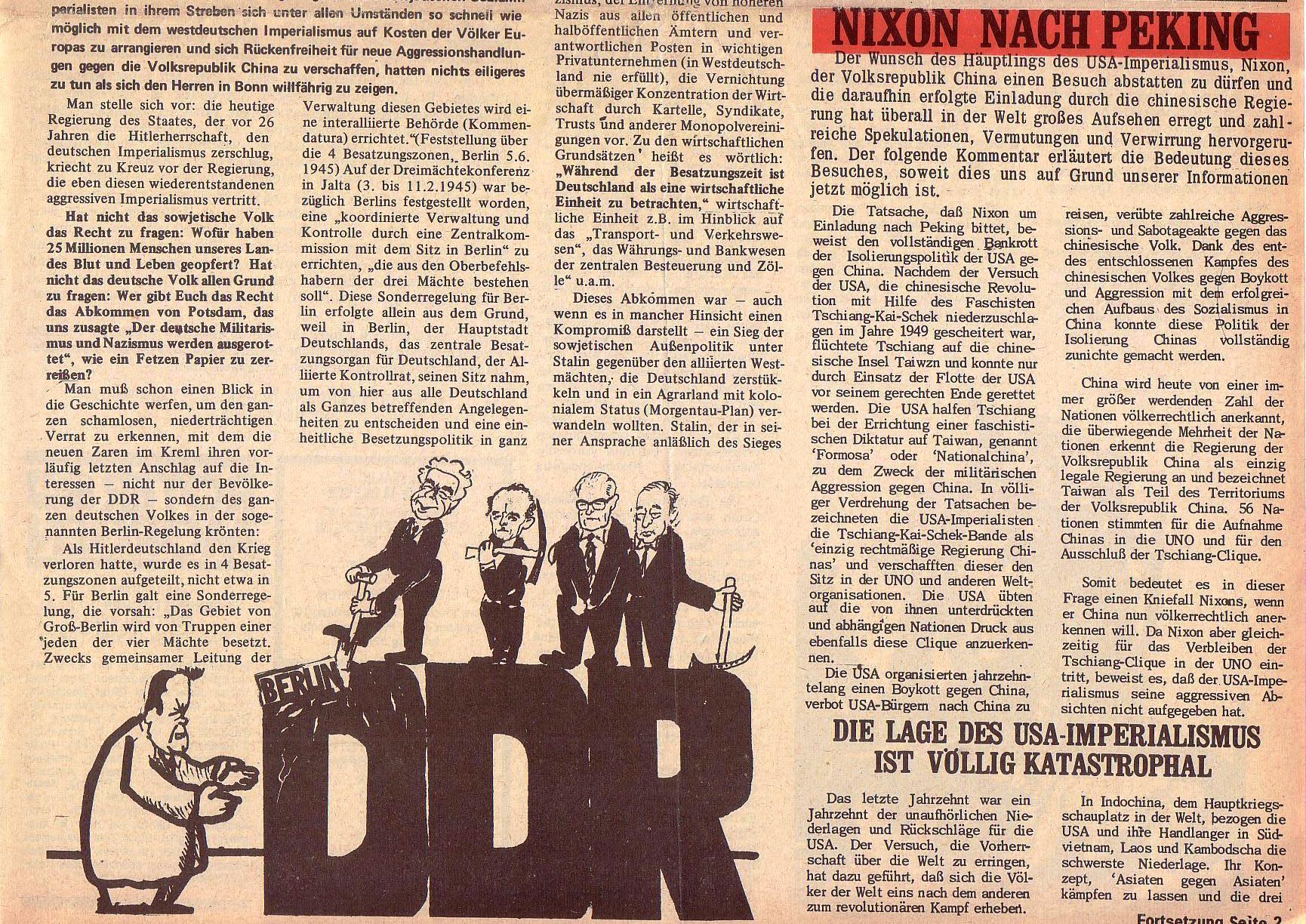 Roter Morgen, 5. Jg., 13. September 1971, Nr. 9, Seite 1b