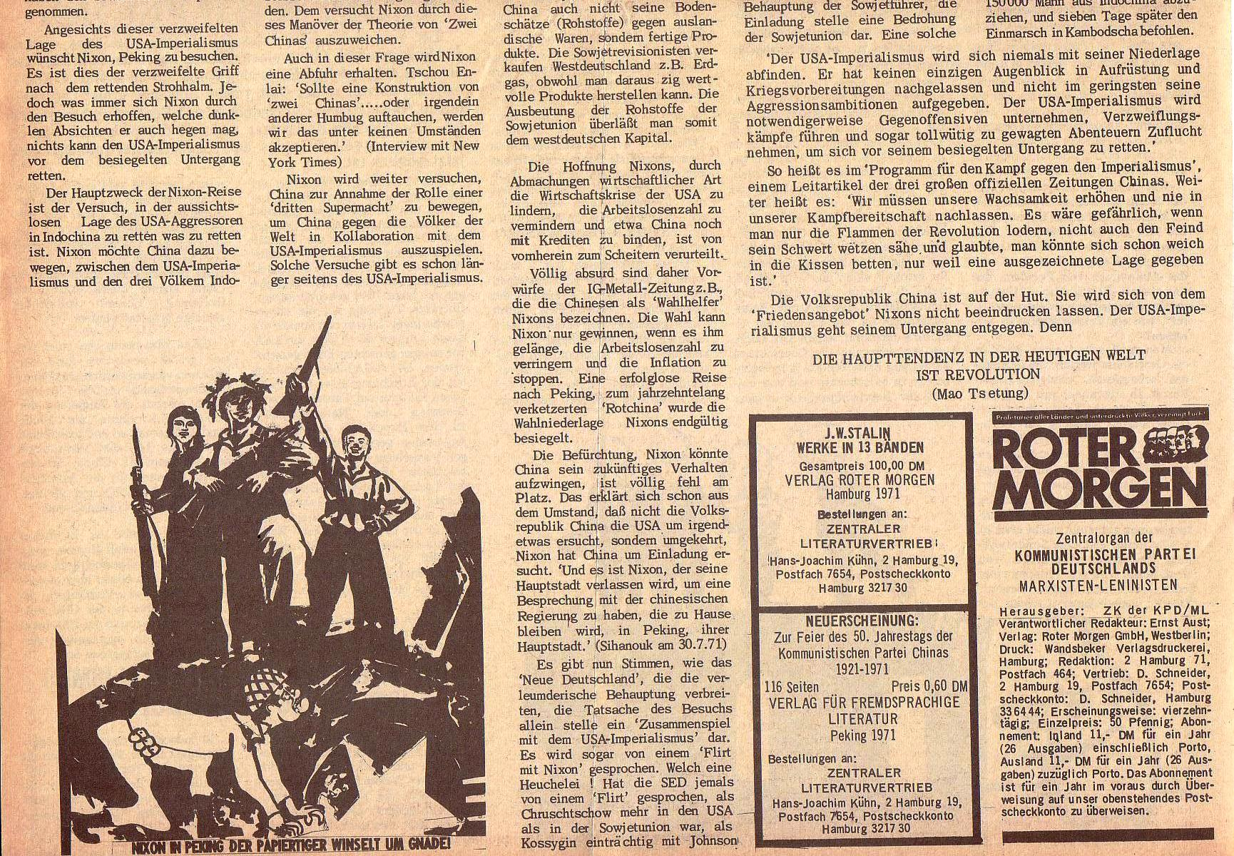 Roter Morgen, 5. Jg., 13. September 1971, Nr. 9, Seite 2b
