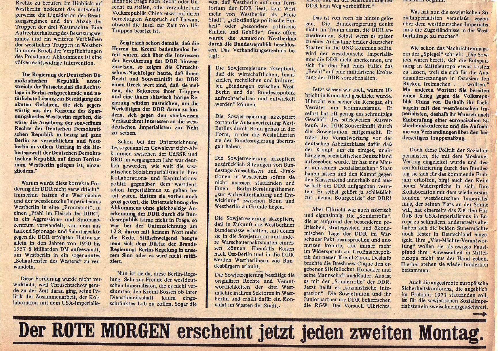 Roter Morgen, 5. Jg., 13. September 1971, Nr. 9, Seite 3b
