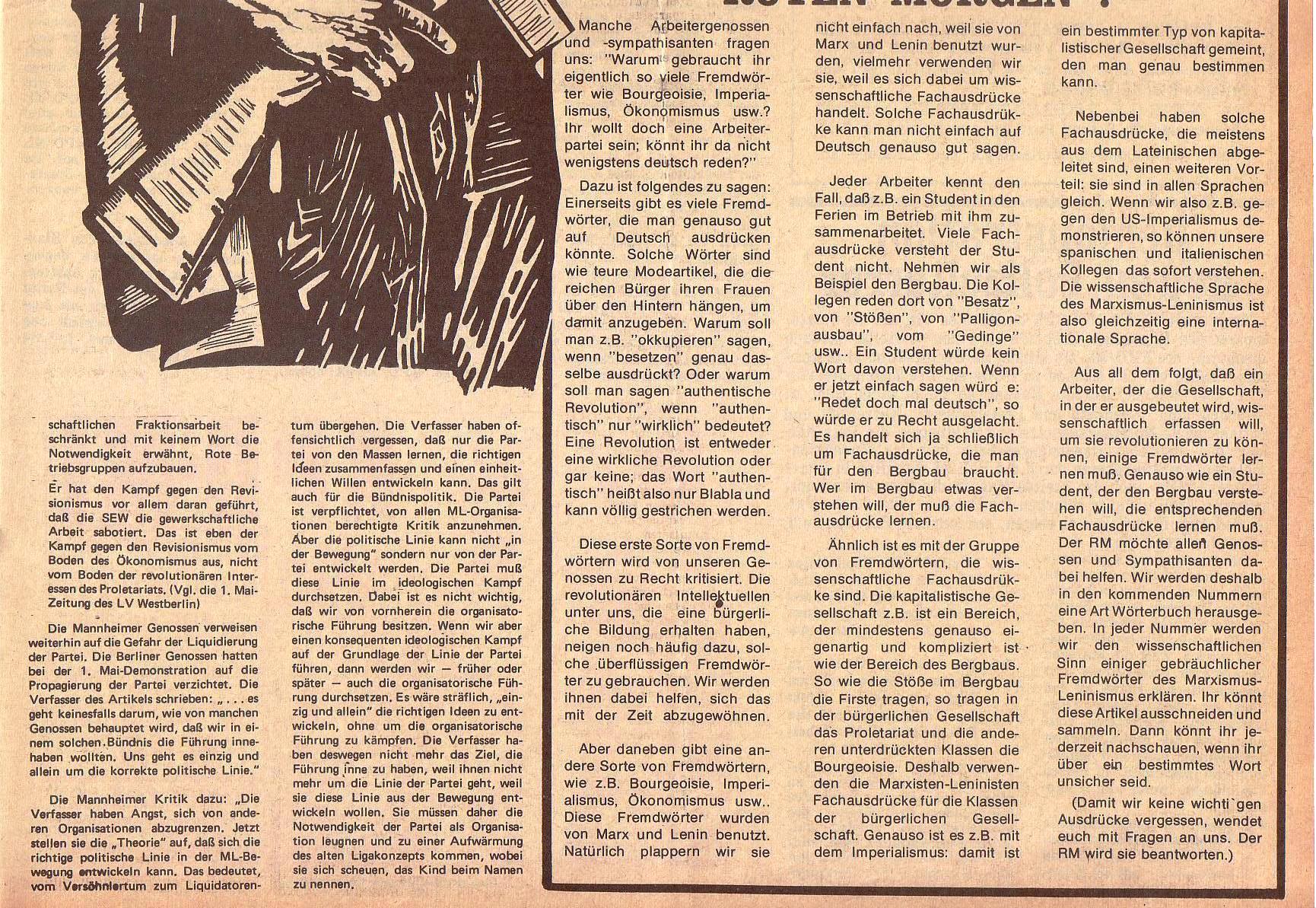 Roter Morgen, 5. Jg., 13. September 1971, Nr. 9, Seite 7b