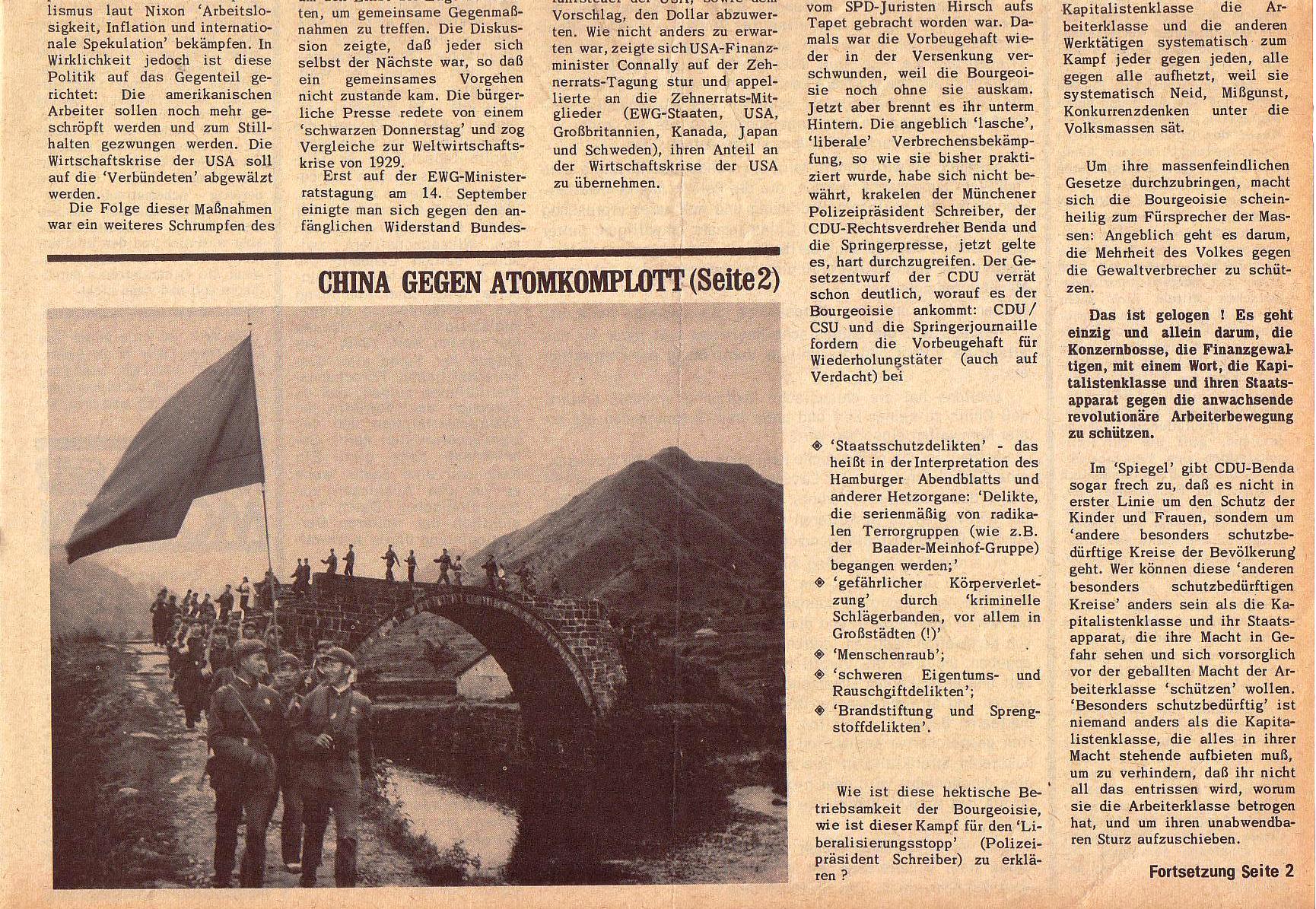 Roter Morgen, 5. Jg., 27. September 1971, Nr. 10, Seite 1b