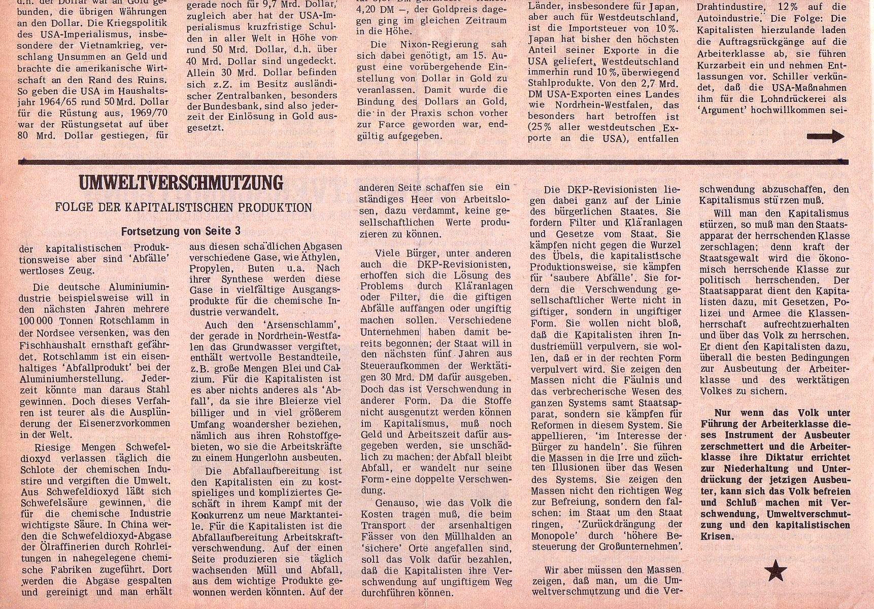 Roter Morgen, 5. Jg., 27. September 1971, Nr. 10, Seite 4b