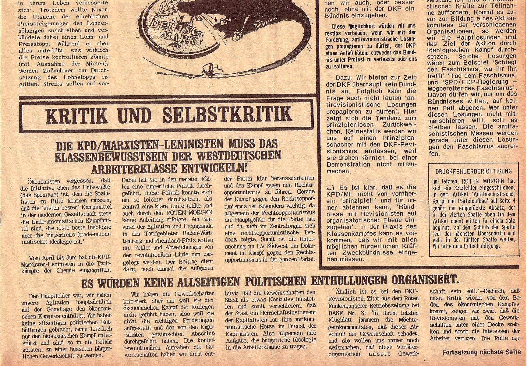 Roter Morgen, 5. Jg., 27. September 1971, Nr. 10, Seite 5b