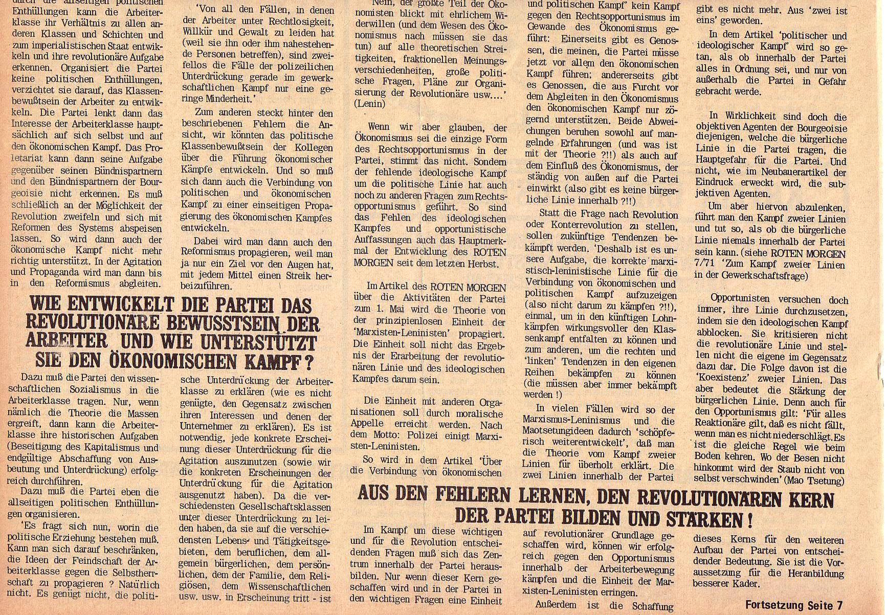 Roter Morgen, 5. Jg., 27. September 1971, Nr. 10, Seite 6b