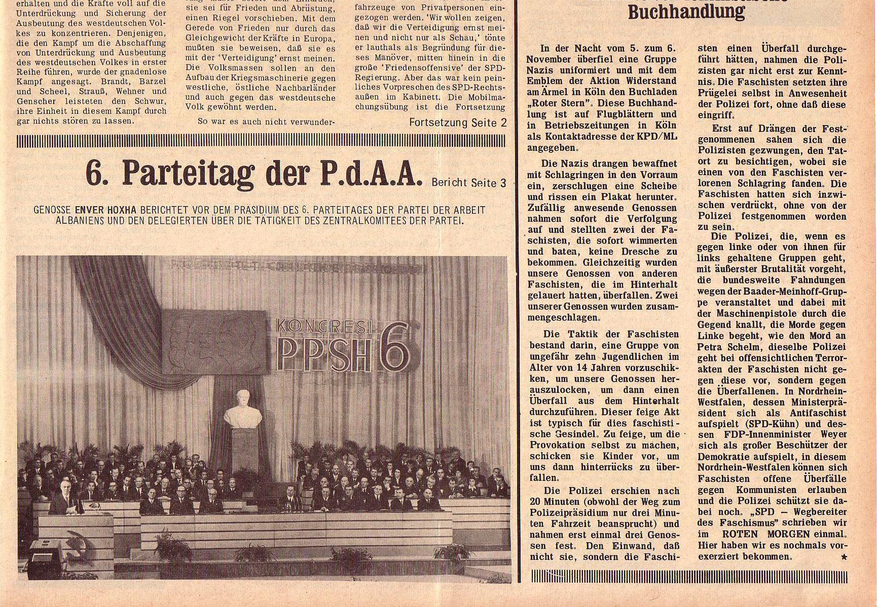 Roter Morgen, 5. Jg., 22. November 1971, Nr. 14, Seite 1b
