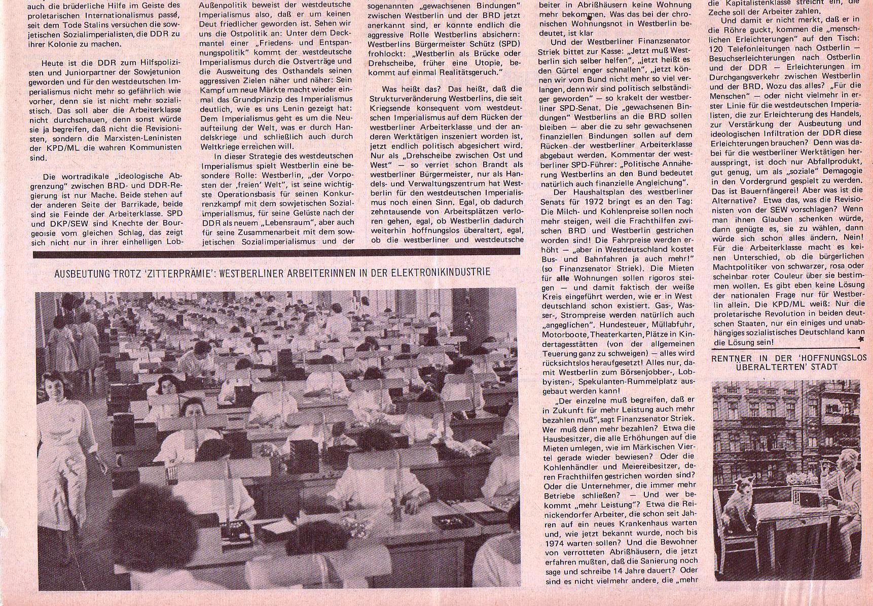 Roter Morgen, 5. Jg., 22. November 1971, Nr. 14, Seite 5b