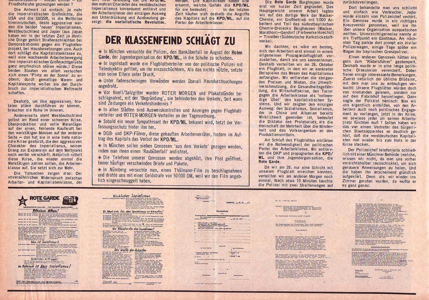 Roter Morgen, 5. Jg., 22. November 1971, Nr. 14, Seite 6b