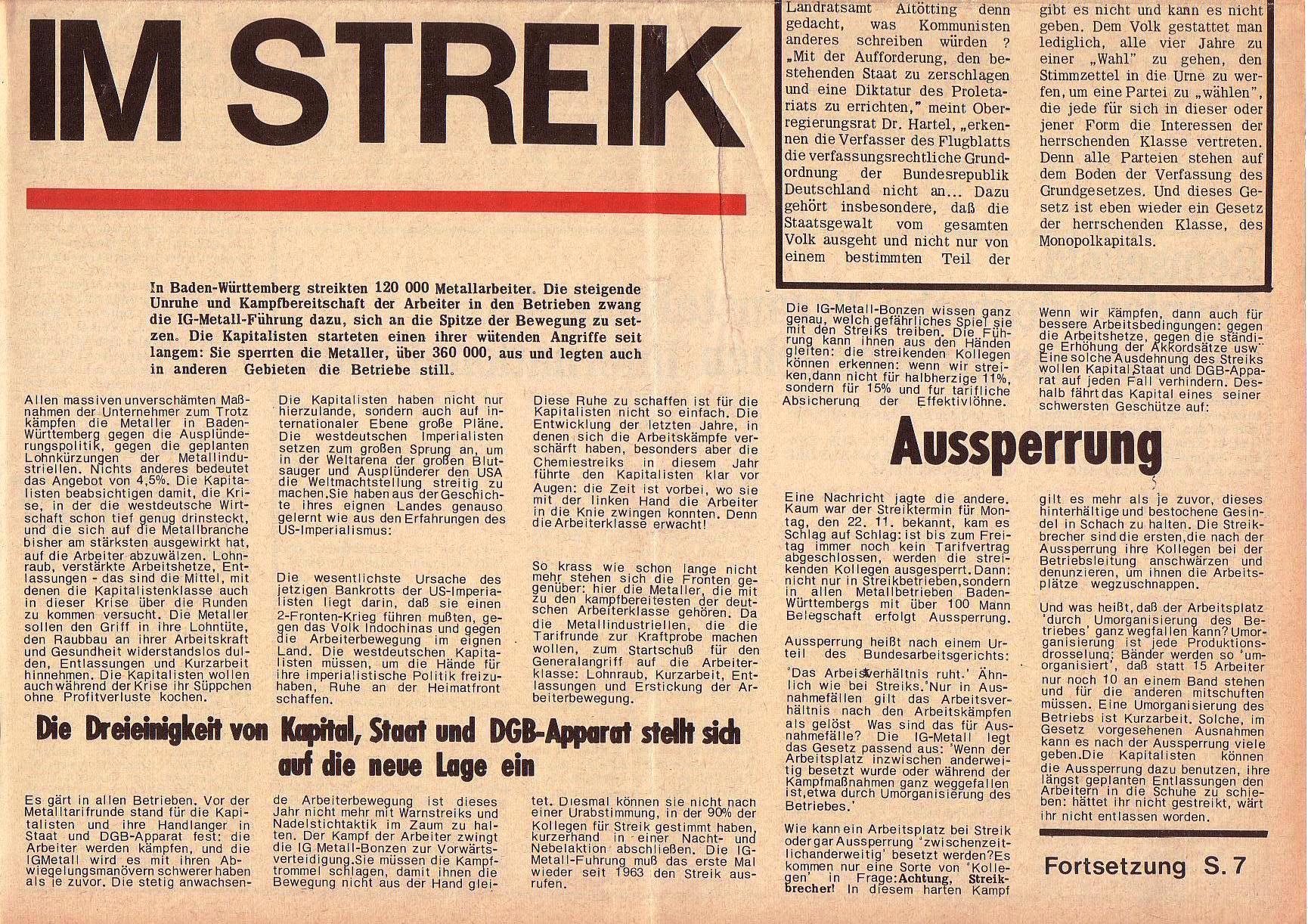 Roter Morgen, 5. Jg., 6. Dezember 1971, Nr. 15, Seite 1b