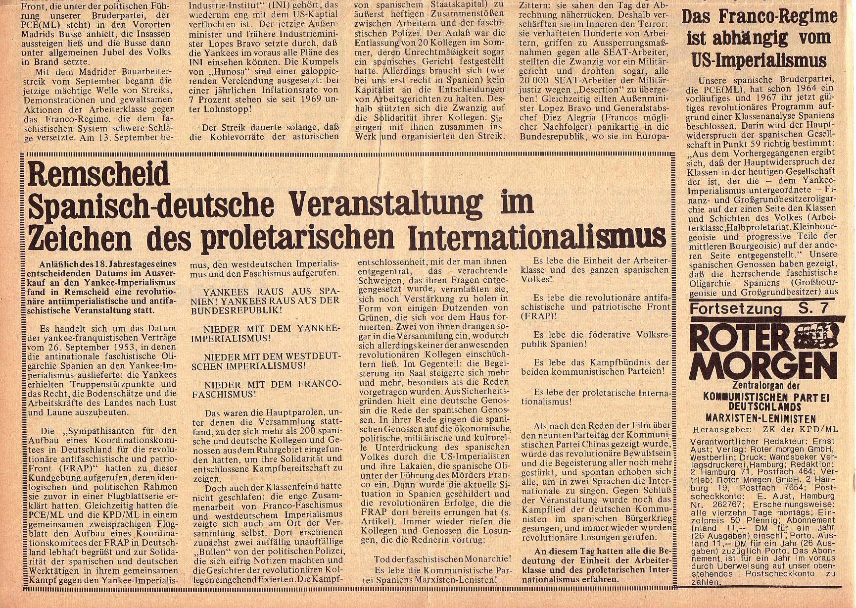 Roter Morgen, 5. Jg., 6. Dezember 1971, Nr. 15, Seite 2b