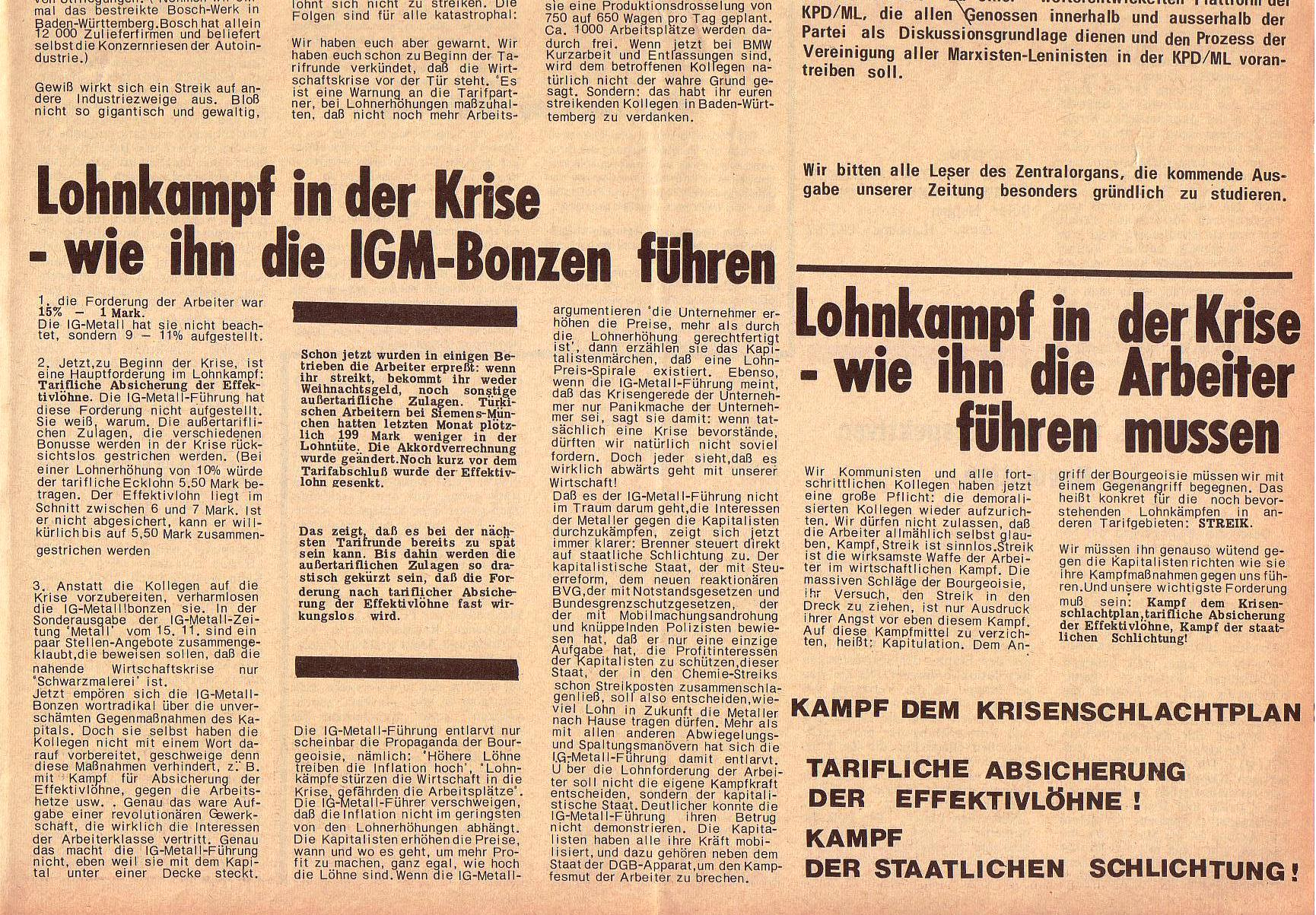 Roter Morgen, 5. Jg., 6. Dezember 1971, Nr. 15, Seite 7b
