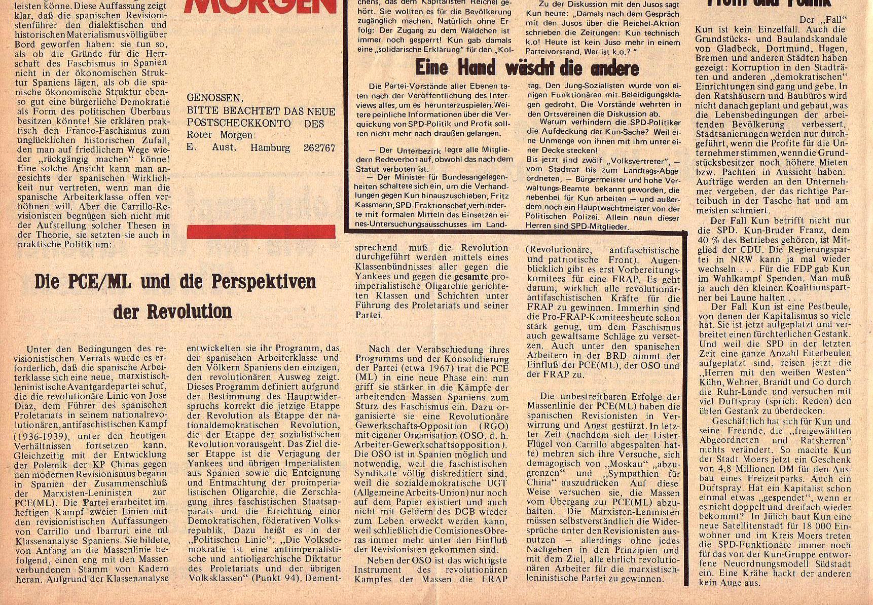 Roter Morgen, 5. Jg., 6. Dezember 1971, Nr. 15, Seite 8b
