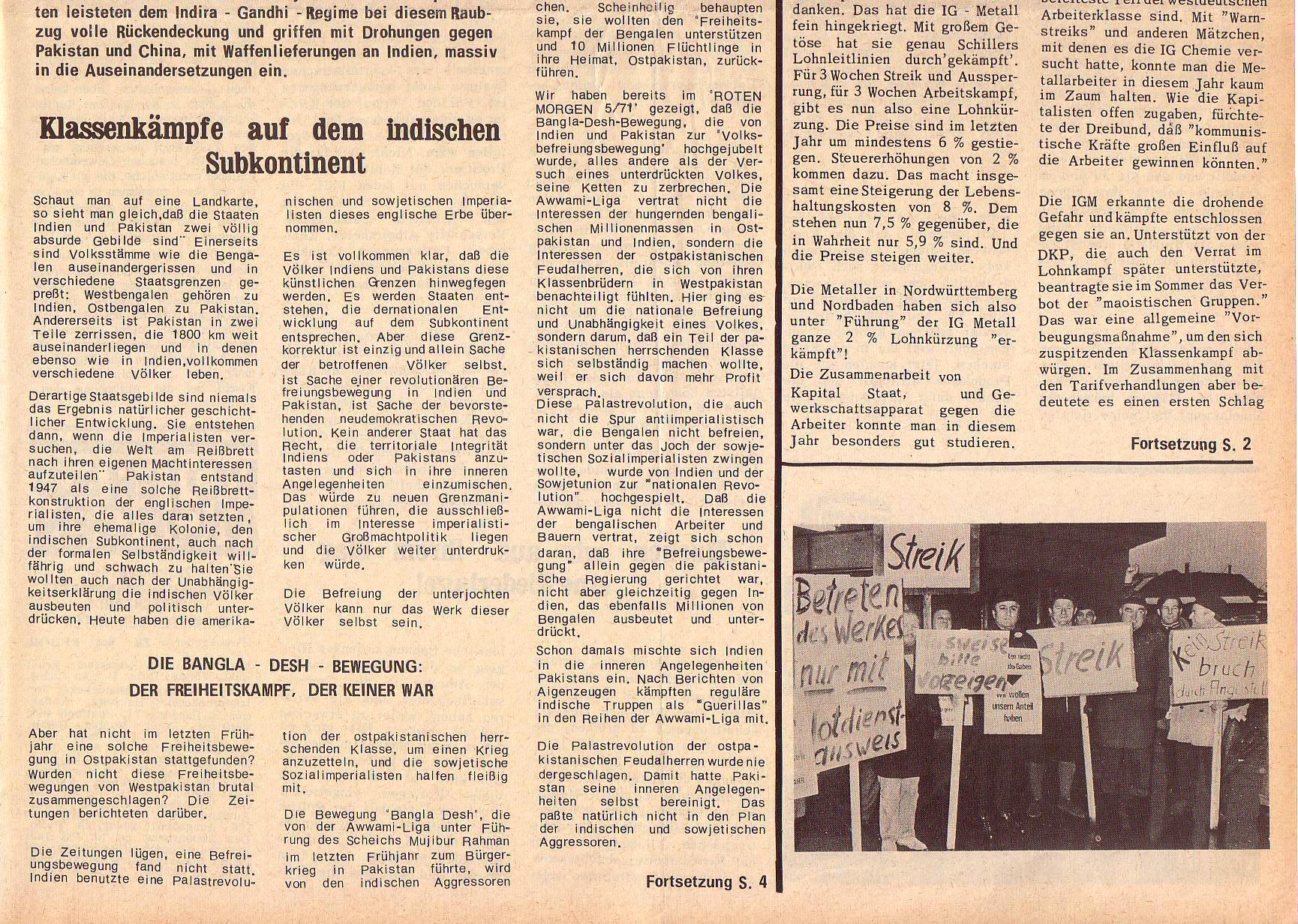 Roter Morgen, 5. Jg., 27. Dezember 1971, Nr. 16, Seite 1b