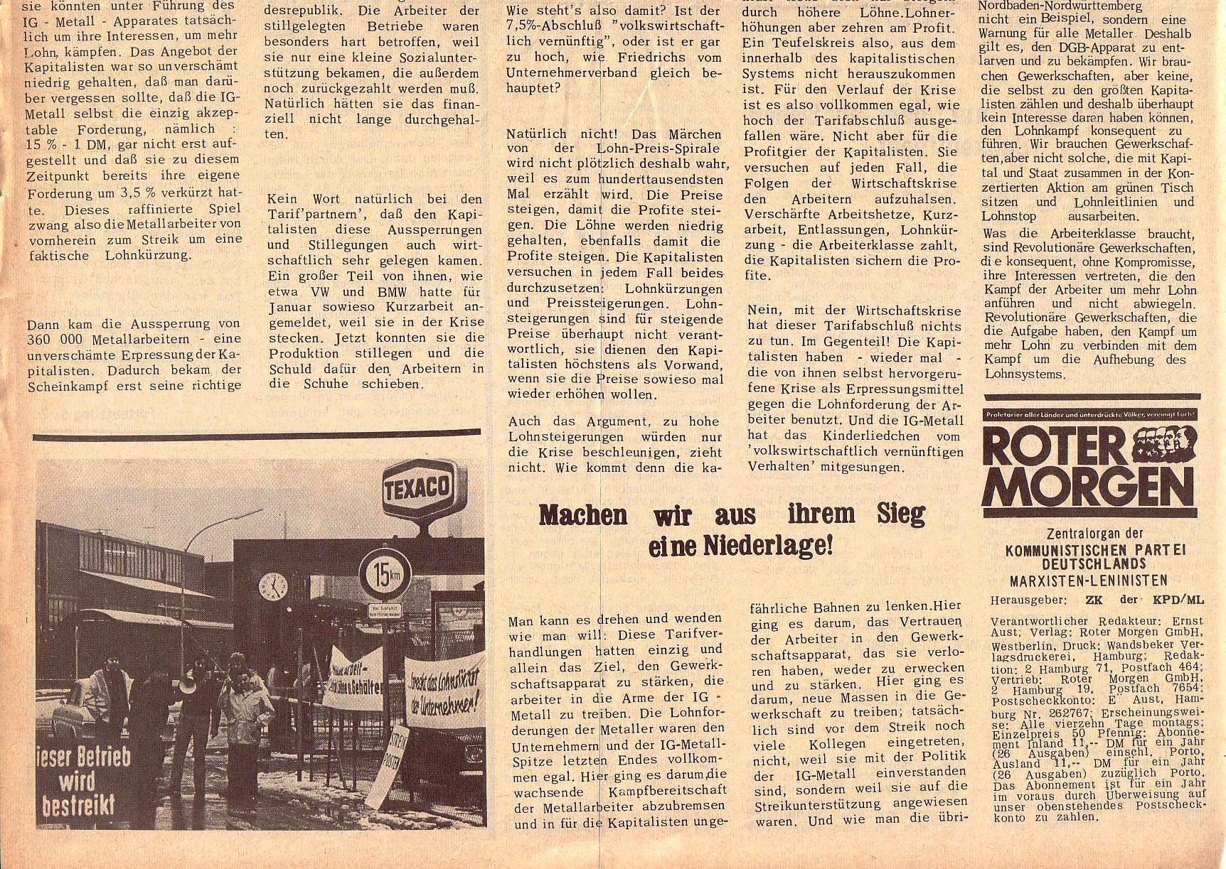 Roter Morgen, 5. Jg., 27. Dezember 1971, Nr. 16, Seite 2b