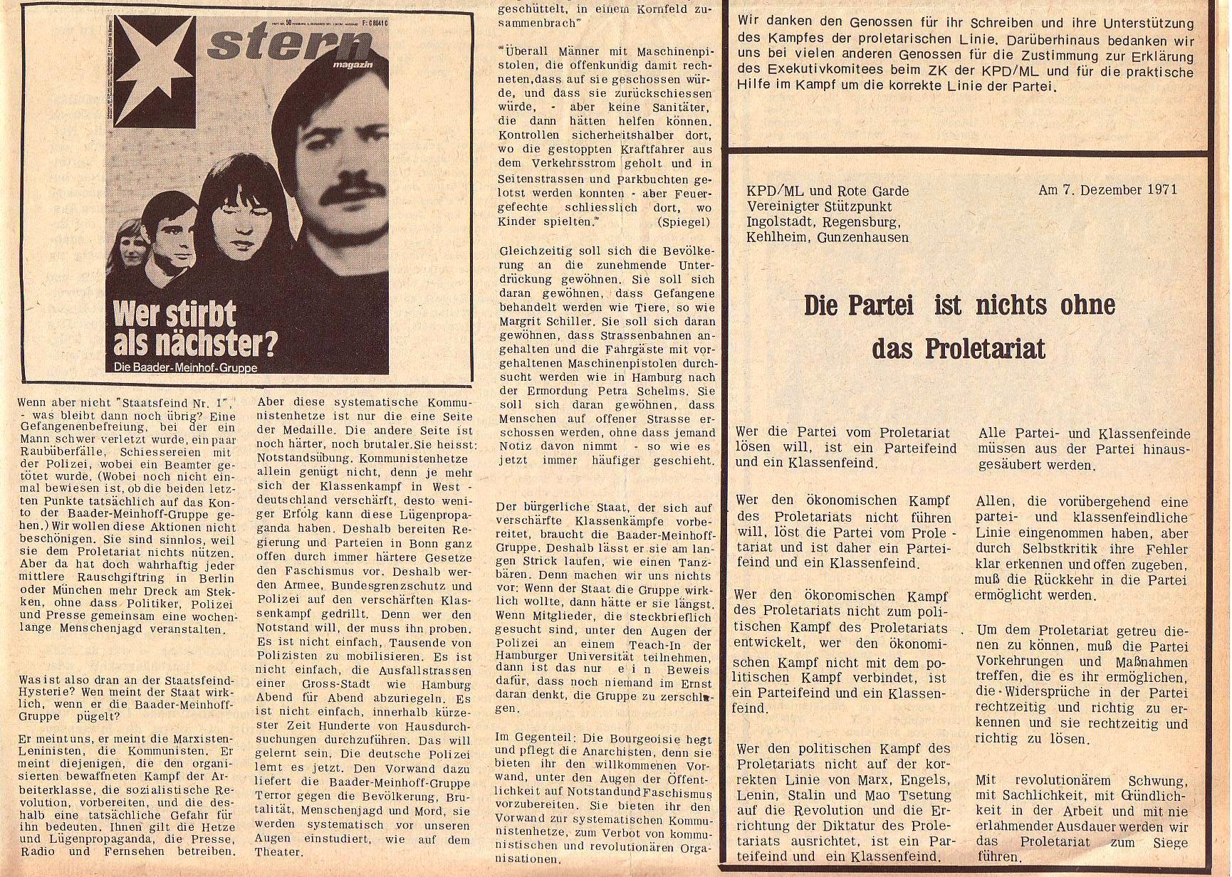 Roter Morgen, 5. Jg., 27. Dezember 1971, Nr. 16, Seite 3b