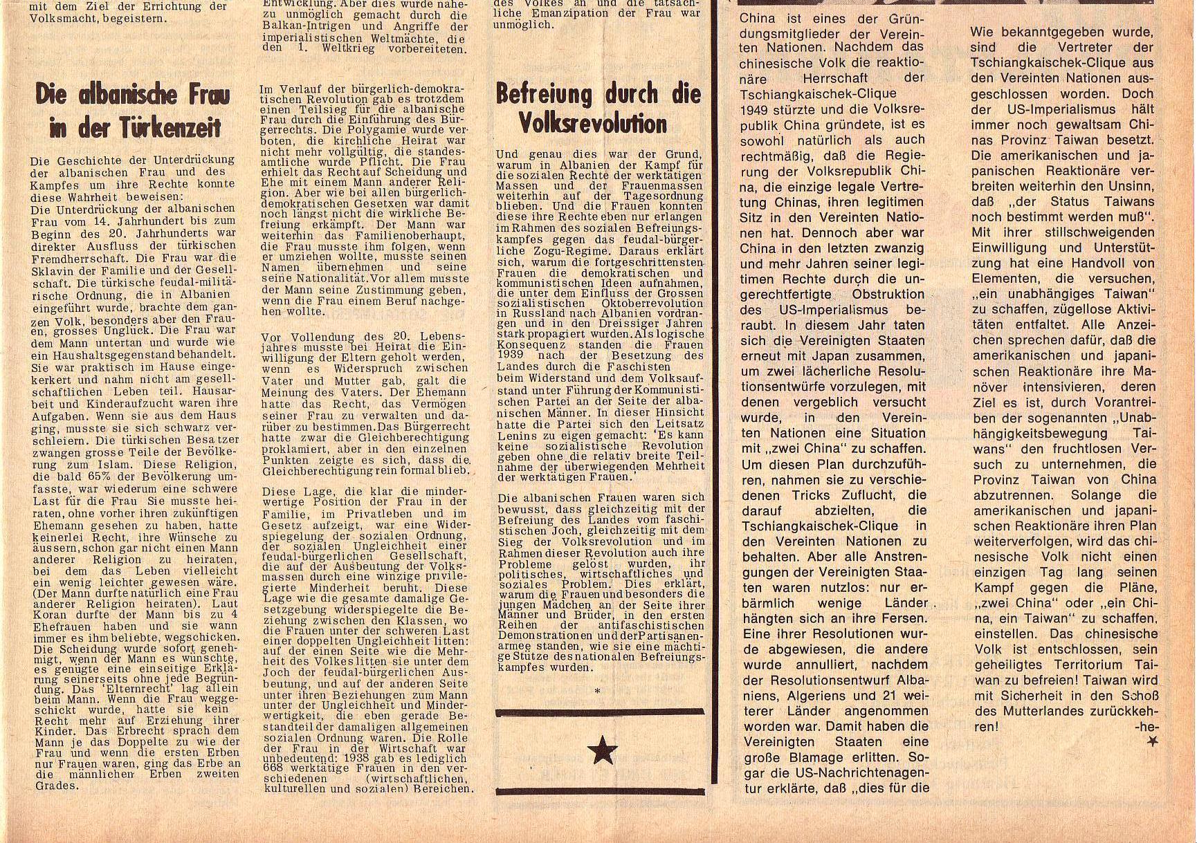 Roter Morgen, 5. Jg., 27. Dezember 1971, Nr. 16, Seite 7b