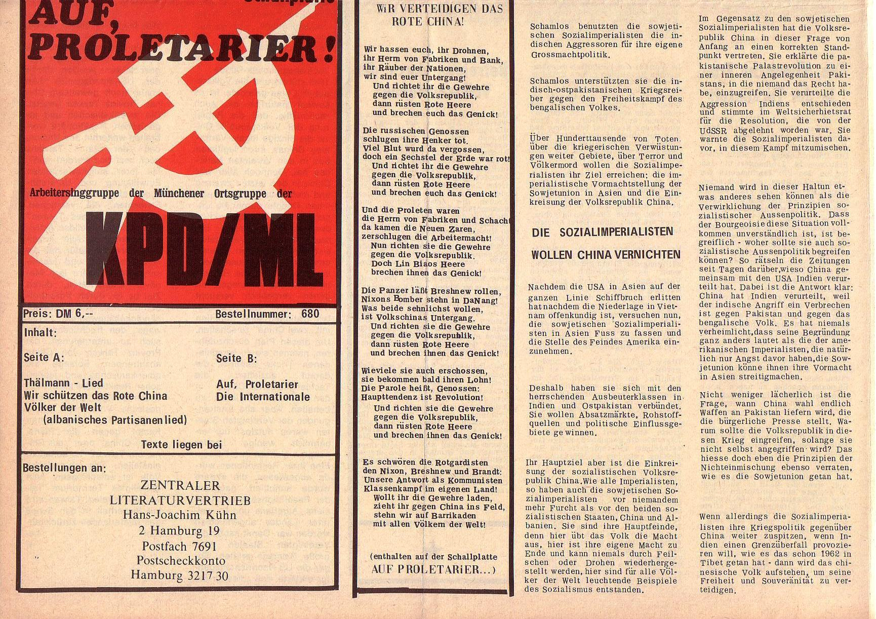 Roter Morgen, 5. Jg., 27. Dezember 1971, Nr. 16, Seite 8b