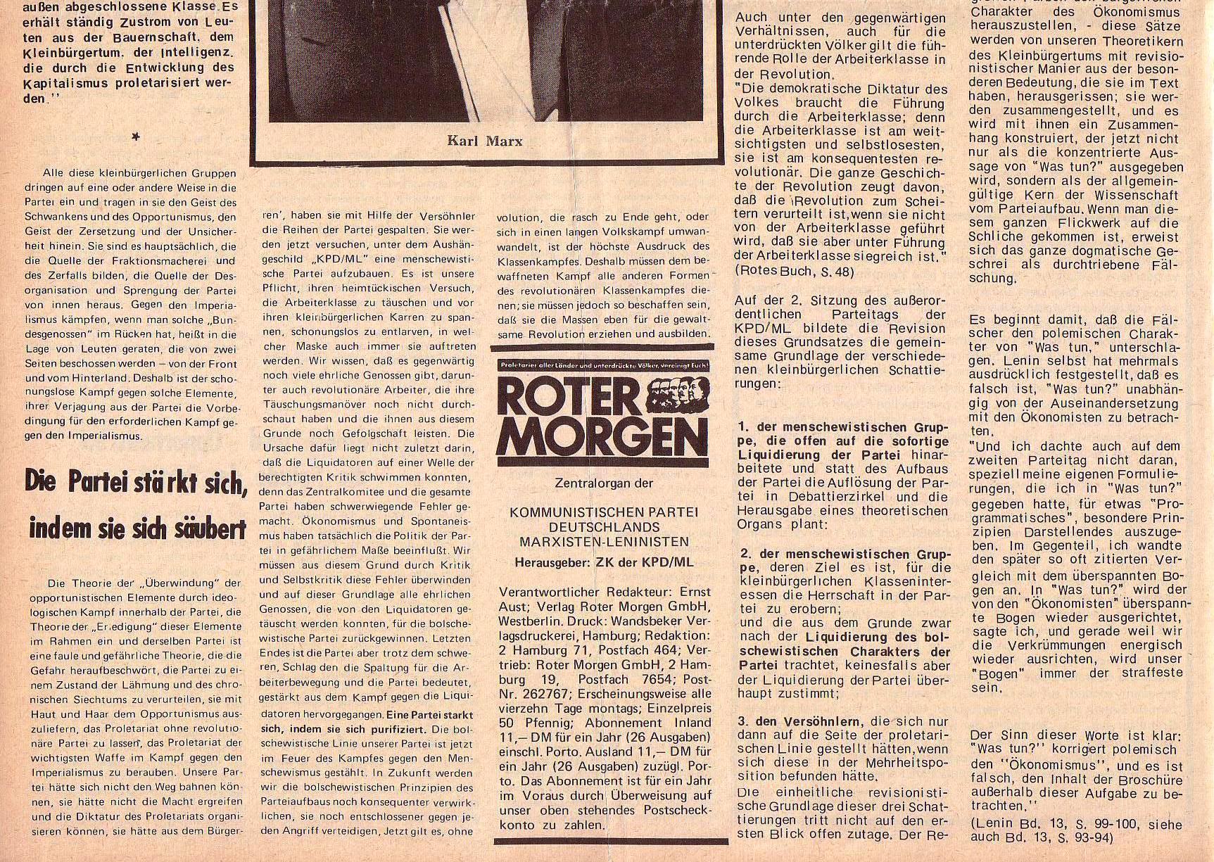 Roter Morgen, 5. Jg., 27. Dezember 1971, Sondernummer, Seite 2b