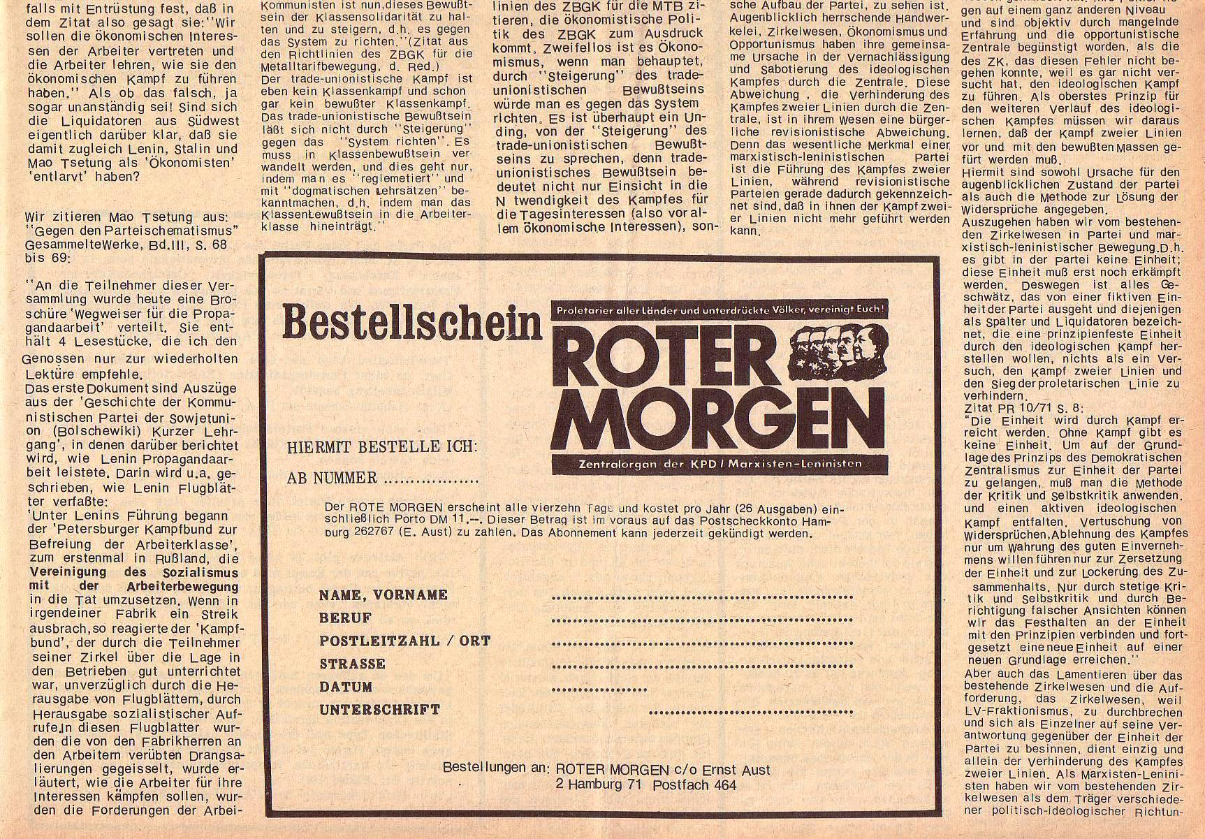 Roter Morgen, 5. Jg., 27. Dezember 1971, Sondernummer, Seite 7b