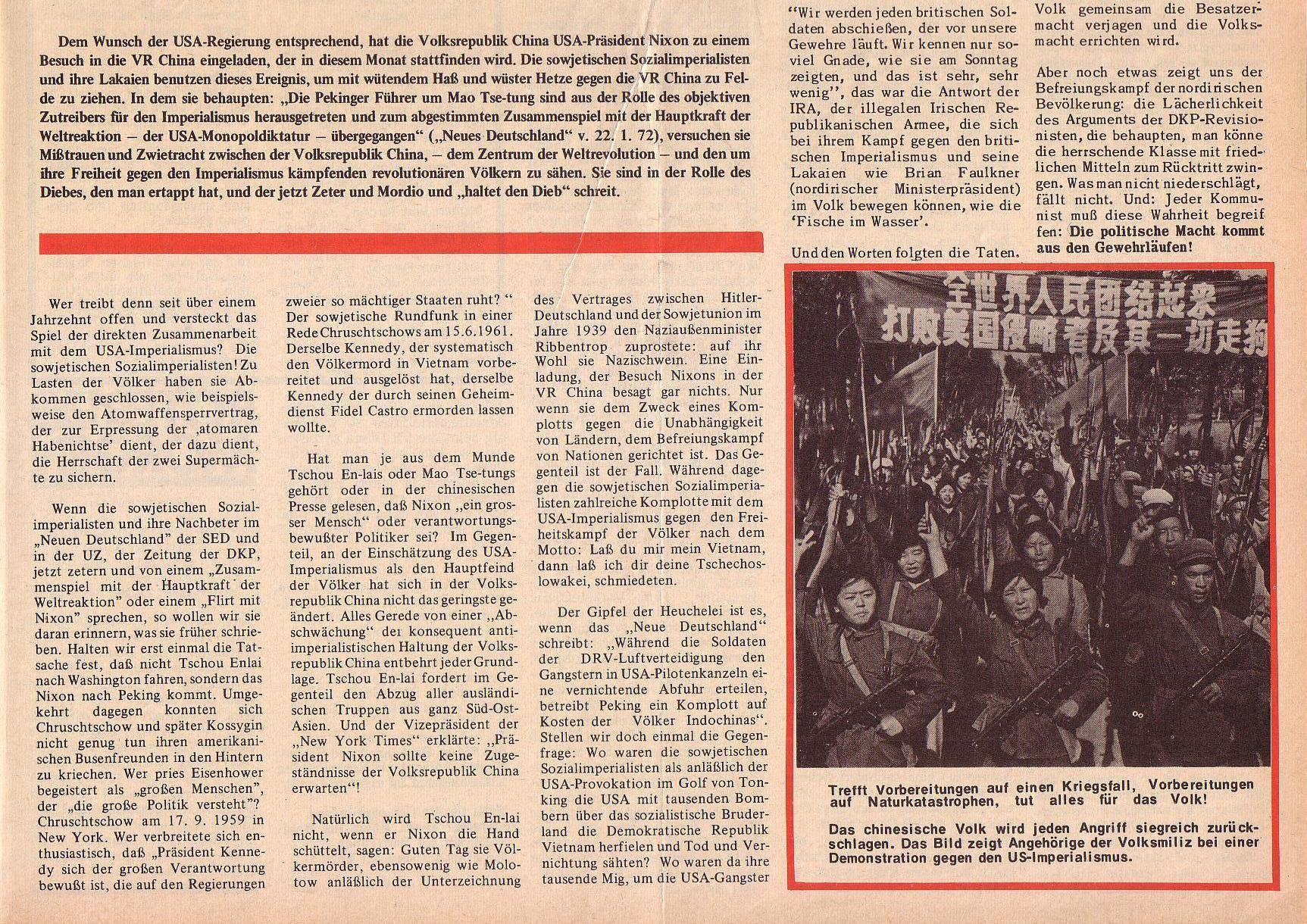 Roter Morgen, 6. Jg., 14. Februar 1972, Nr. 4, Seite 1b
