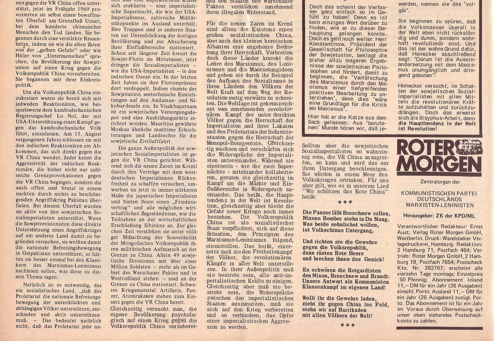 Roter Morgen, 6. Jg., 14. Februar 1972, Nr. 4, Seite 2b