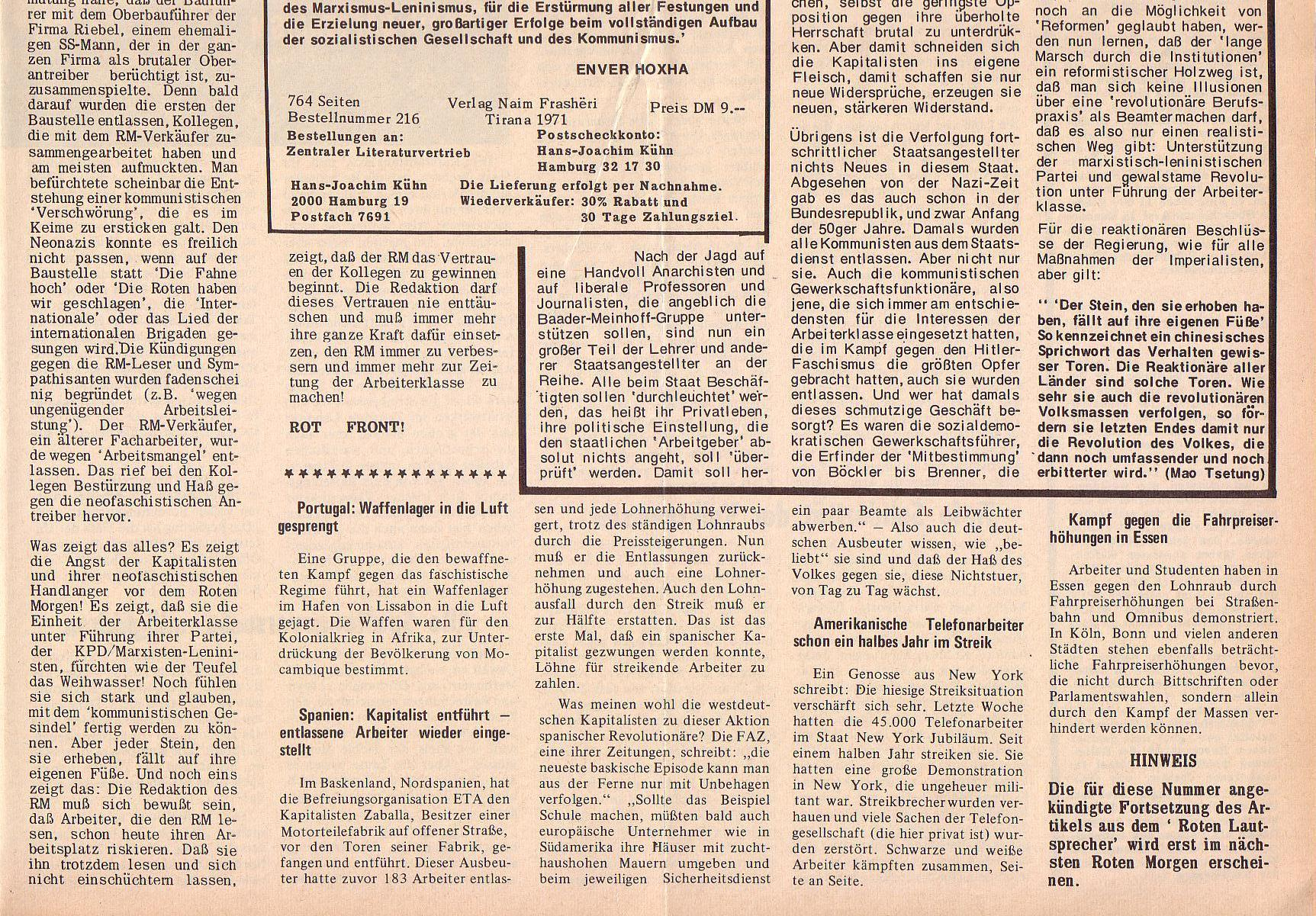 Roter Morgen, 6. Jg., 14. Februar 1972, Nr. 4, Seite 3b