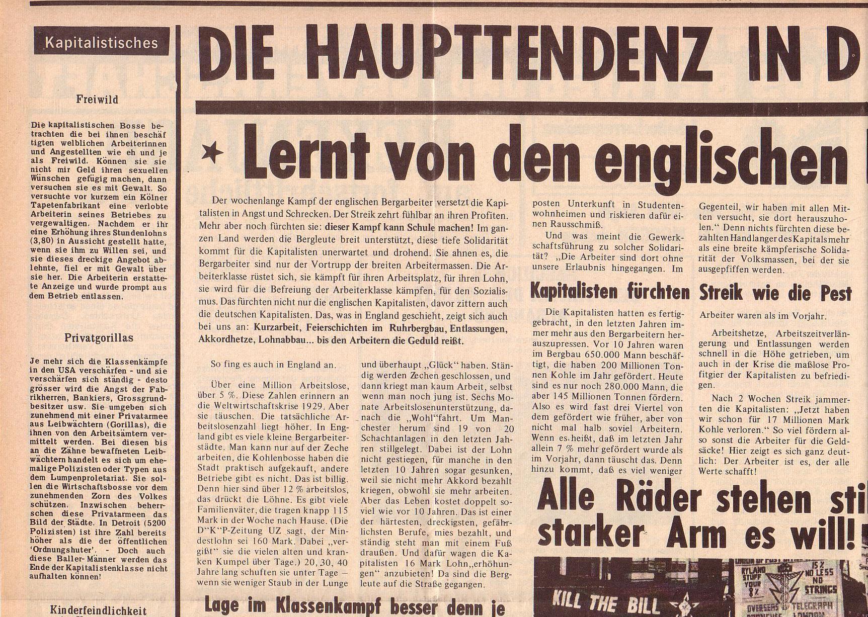 Roter Morgen, 6. Jg., 14. Februar 1972, Nr. 4, Seite 4a