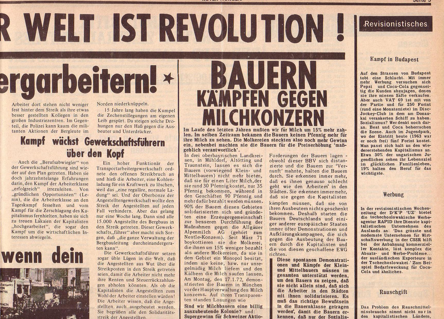 Roter Morgen, 6. Jg., 14. Februar 1972, Nr. 4, Seite 5a
