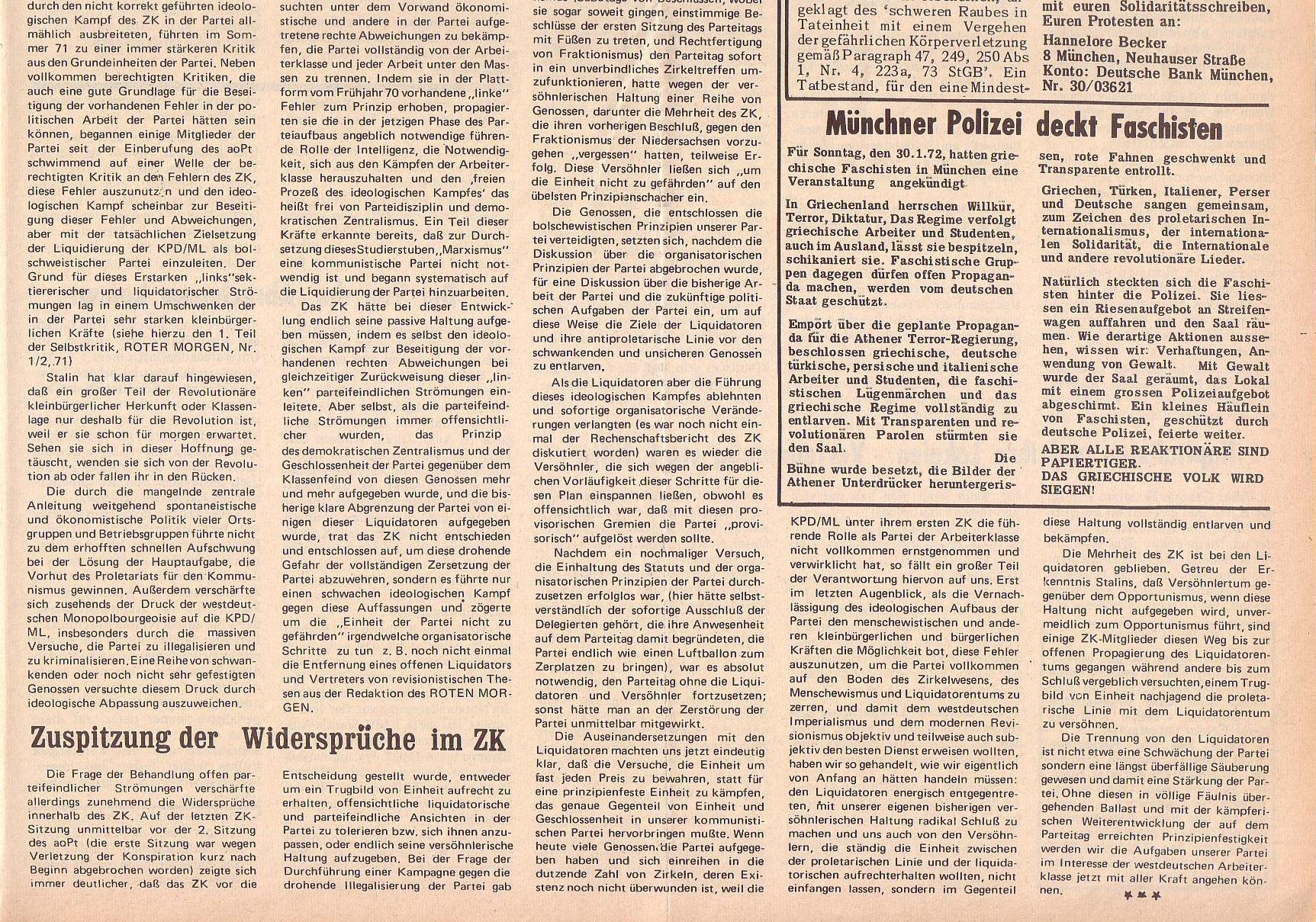 Roter Morgen, 6. Jg., 14. Februar 1972, Nr. 4, Seite 7b
