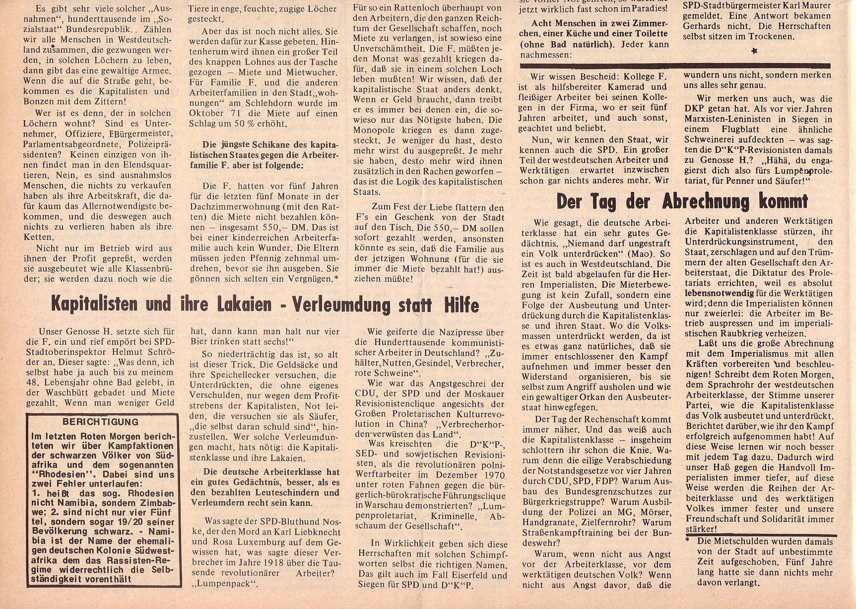 Roter Morgen, 6. Jg., 14. Februar 1972, Nr. 4, Seite 8b