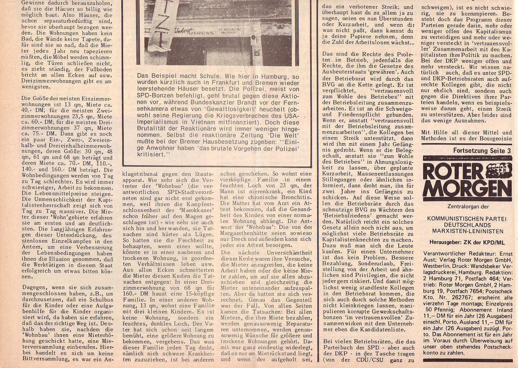 Roter Morgen, 6. Jg., 28. Februar 1972, Nr. 5, Seite 2b