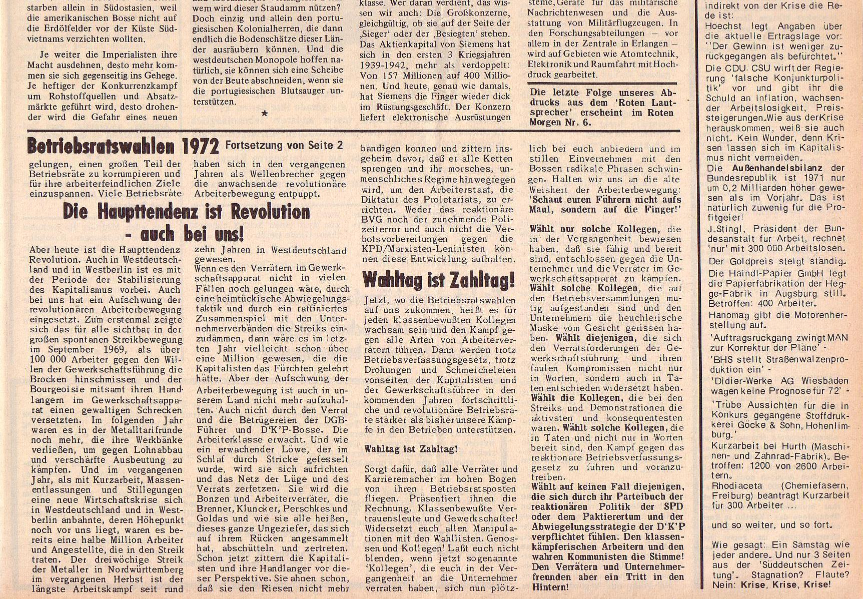 Roter Morgen, 6. Jg., 28. Februar 1972, Nr. 5, Seite 3b