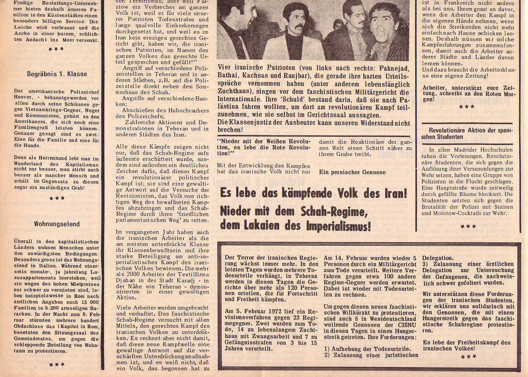 Roter Morgen, 6. Jg., 28. Februar 1972, Nr. 5, Seite 4b