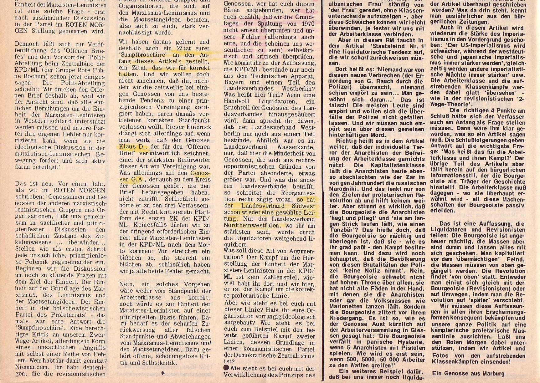 Roter Morgen, 6. Jg., 28. Februar 1972, Nr. 5, Seite 6b