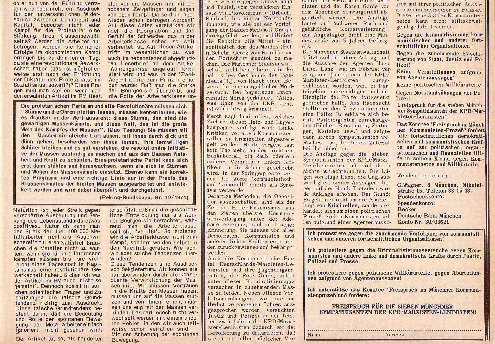 Roter Morgen, 6. Jg., 28. Februar 1972, Nr. 5, Seite 7b