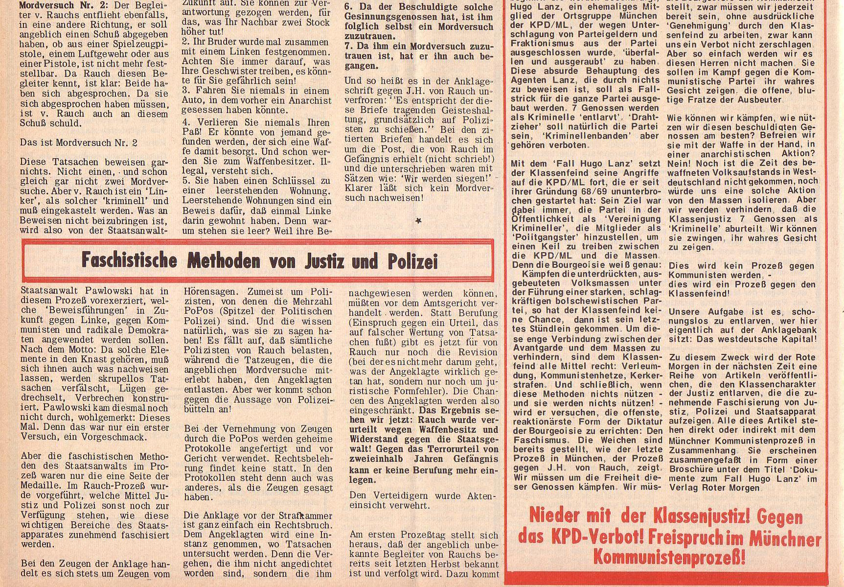 Roter Morgen, 6. Jg., 28. Februar 1972, Nr. 5, Seite 8b