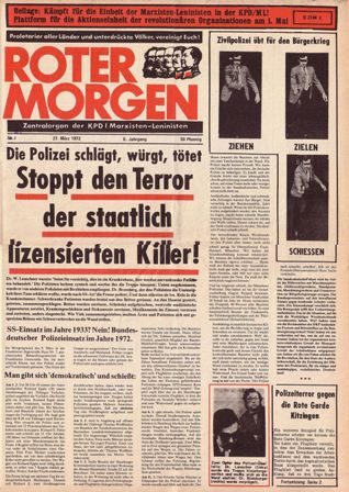 Roter Morgen, 7/1972, S. 1