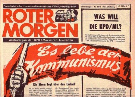 Roter Morgen, Mai 1972, Sonderausgabe, S. 1