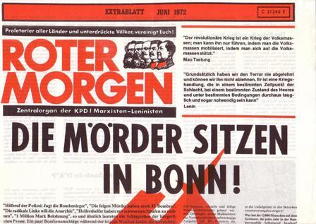 Roter Morgen, Juni 1972, Extra, S. 1