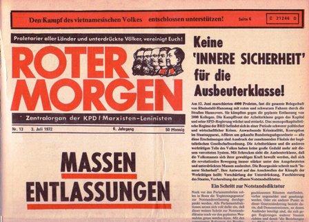 Roter Morgen, 13/1972, S. 1 oben