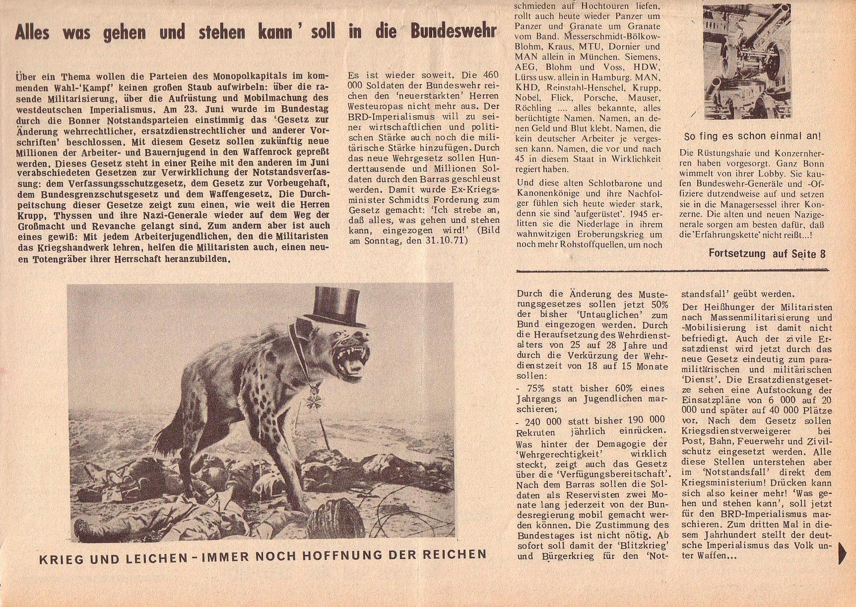 Roter Morgen, 6. Jg., 31. Juli 1972, Nr. 15, Seite 1b
