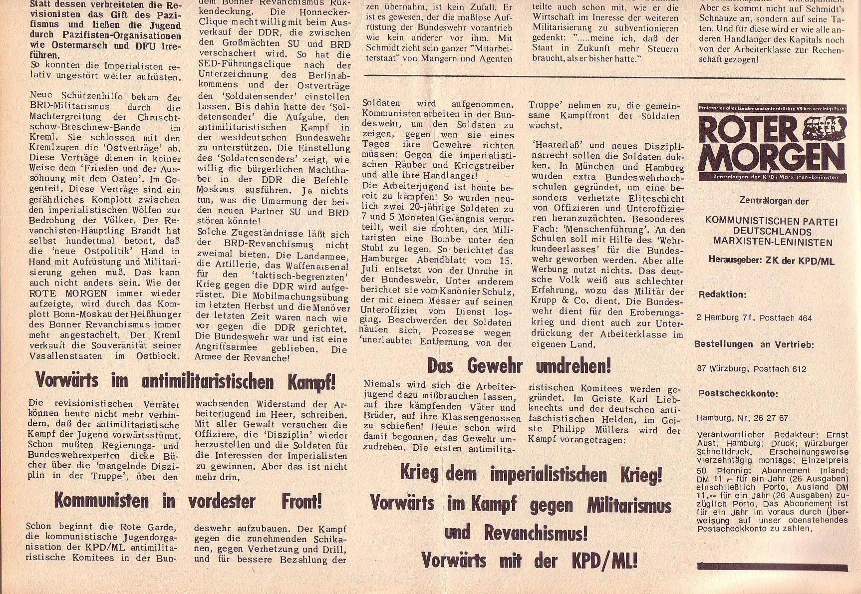 Roter Morgen, 6. Jg., 31. Juli 1972, Nr. 15, Seite 2b