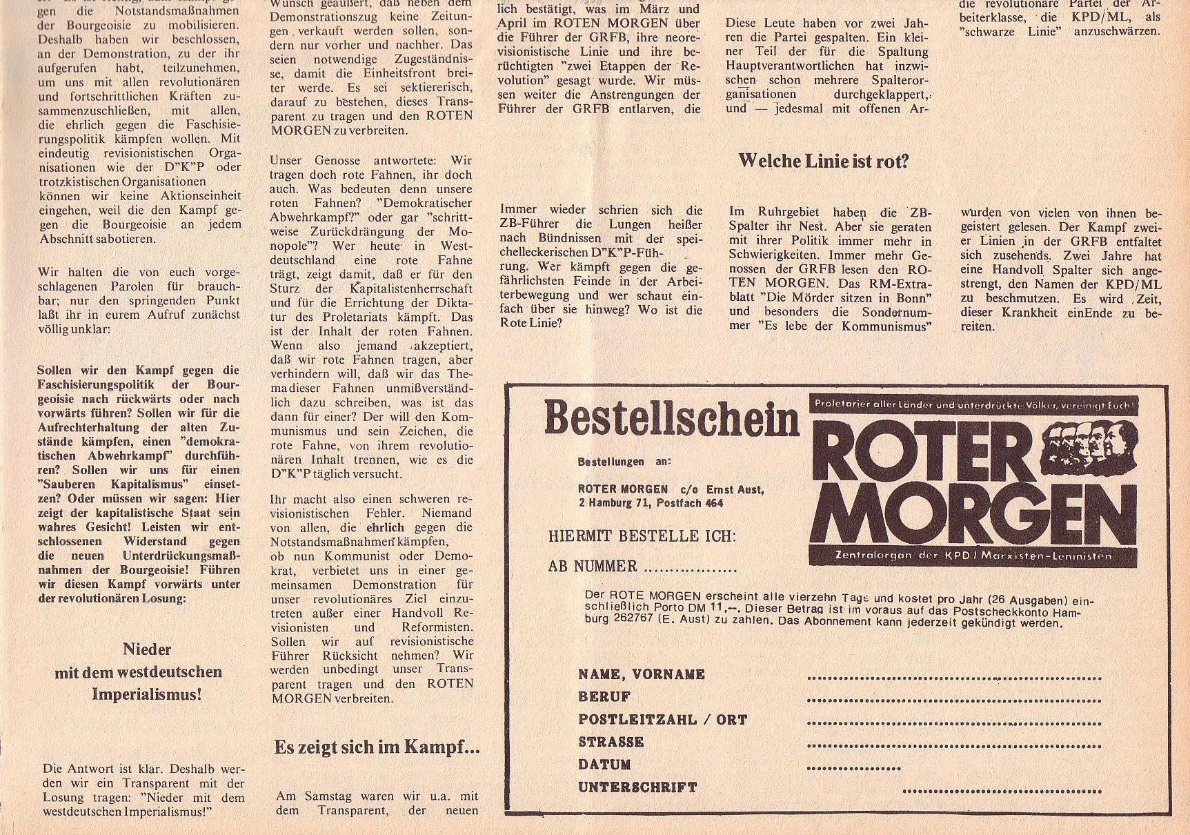 Roter Morgen, 6. Jg., 31. Juli 1972, Nr. 15, Seite 5b