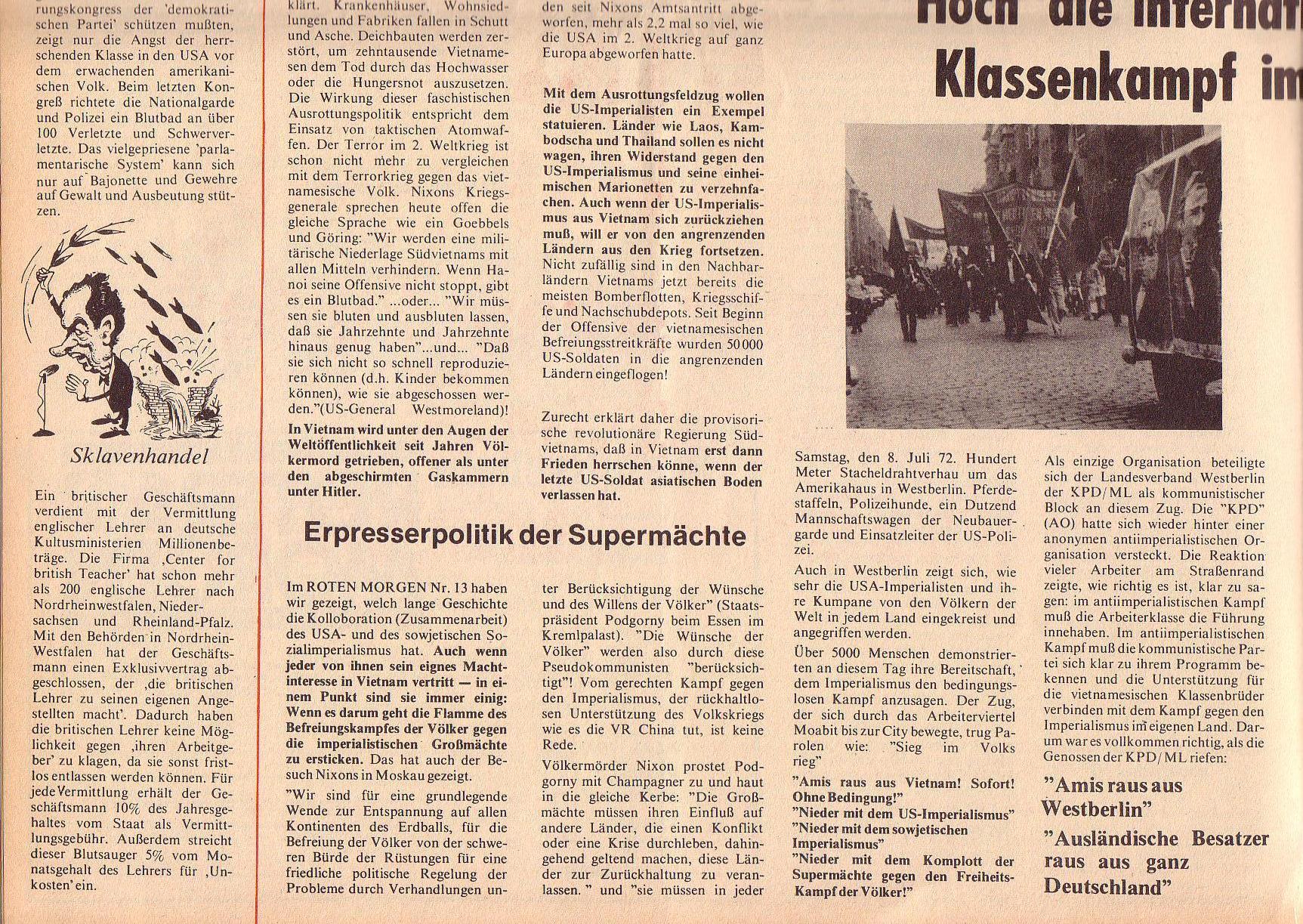 Roter Morgen, 6. Jg., 31. Juli 1972, Nr. 15, Seite 6b