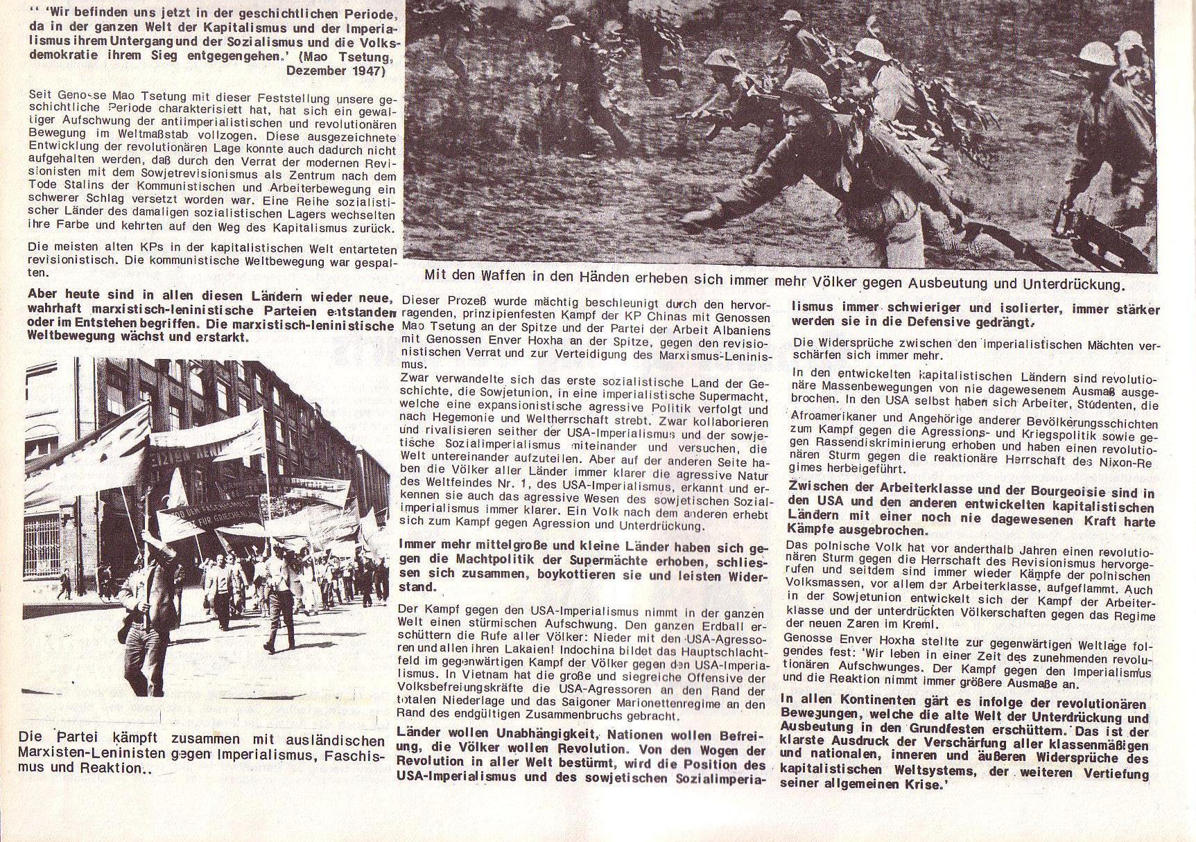 Roter Morgen, 6. Jg., Juli 1972, Sonderbeilage zum II. ordentlichen Parteitag, Seite 4b